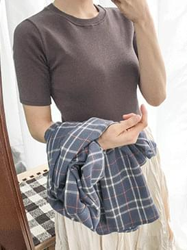 Pitch kimono short sleeve polo shirt