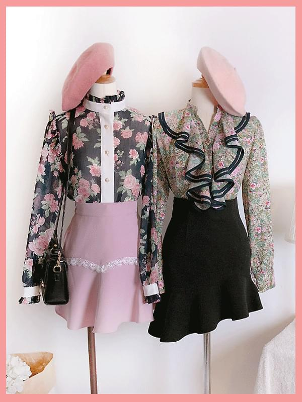 Muse flower blouse