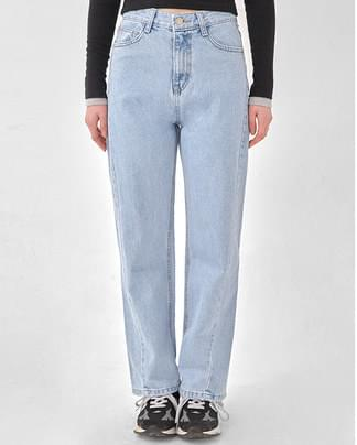 two line denim pants