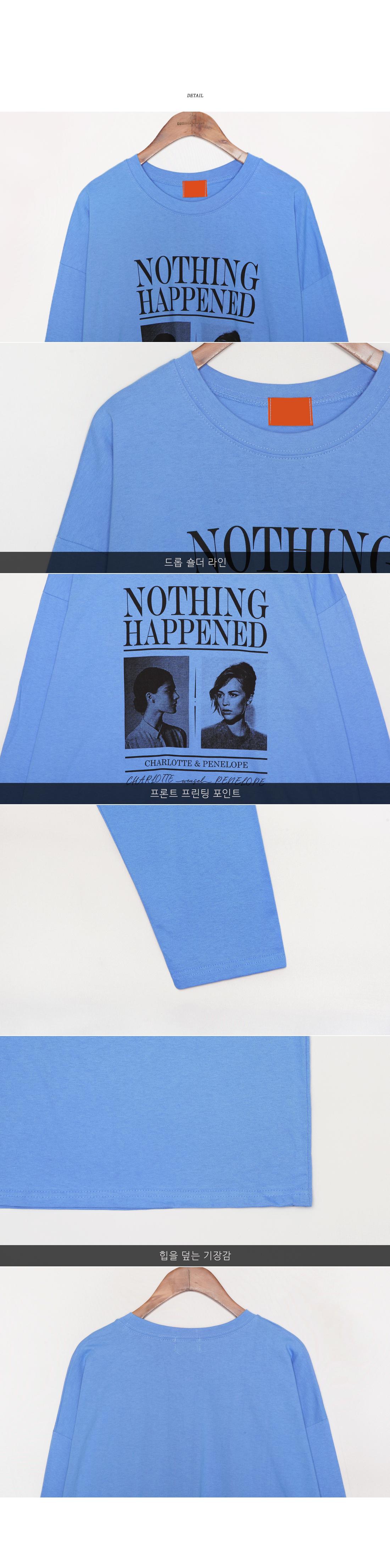 [TOP] NOTHING GIRL PRINTING T