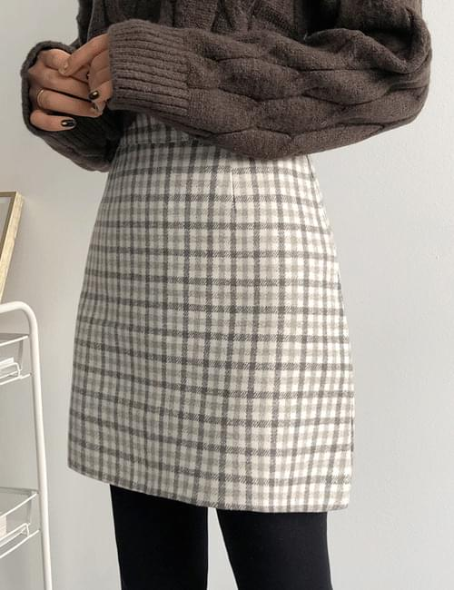 Elymogic check skirt