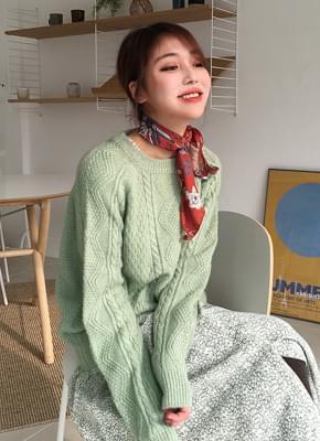 Alpaca twill knit