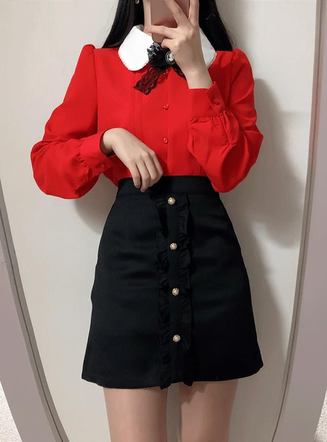 ♥ Shirring Pearl Mini sk