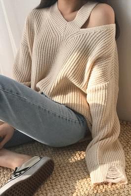 Vintage slit knit