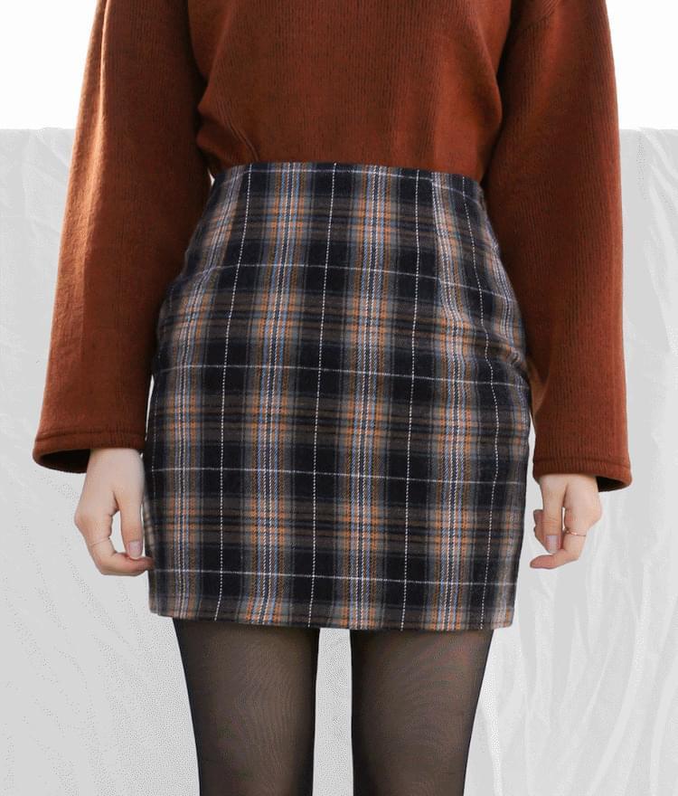 Daven checked skirt