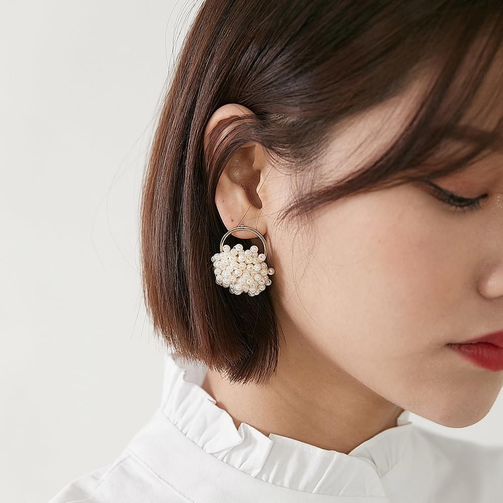 Lavender Pearl Earring