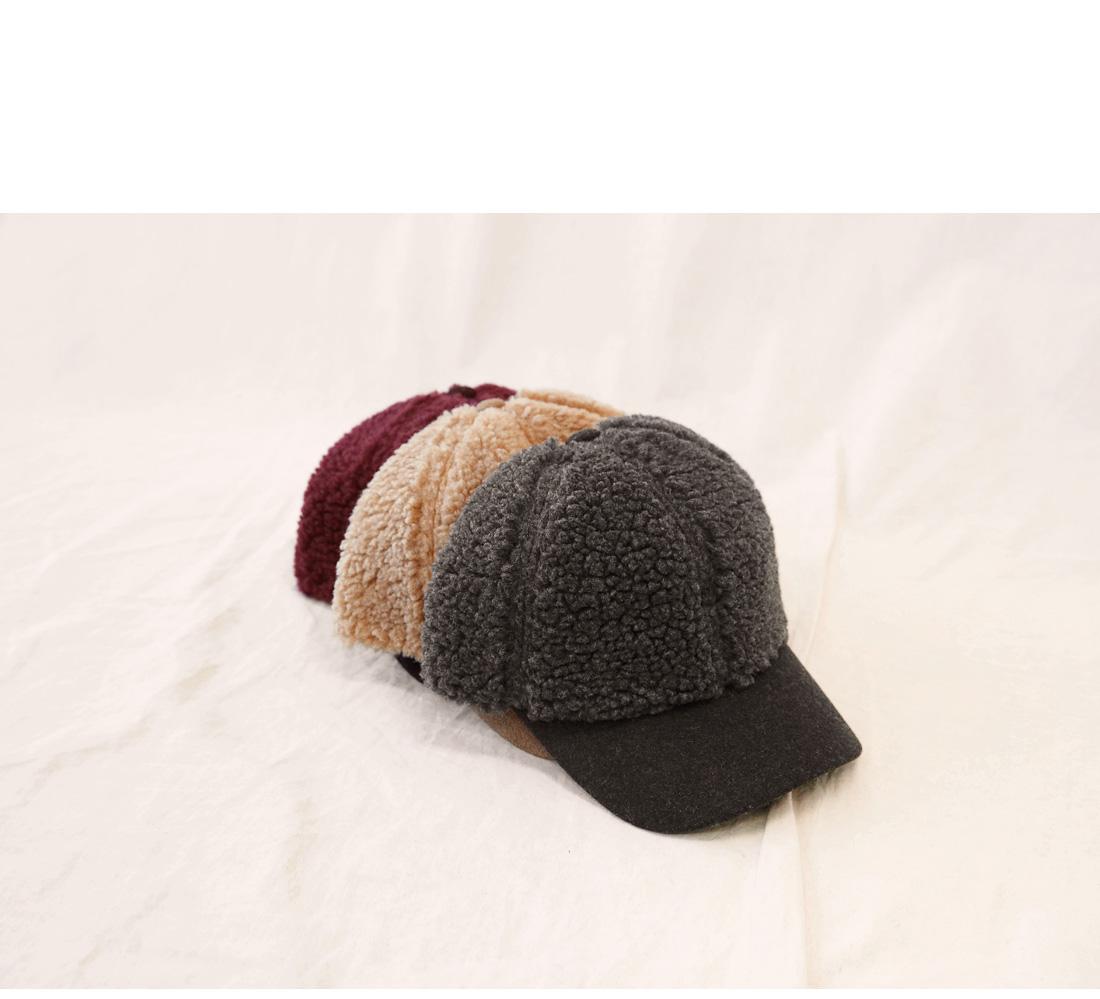 COLOR MIX LAMB DUMBLE BALL CAP