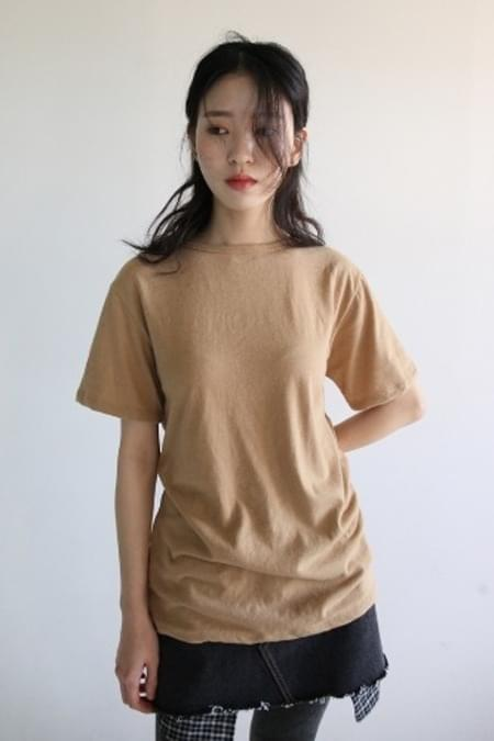wool texture half t-shirt
