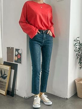 Straight jubber cut pants