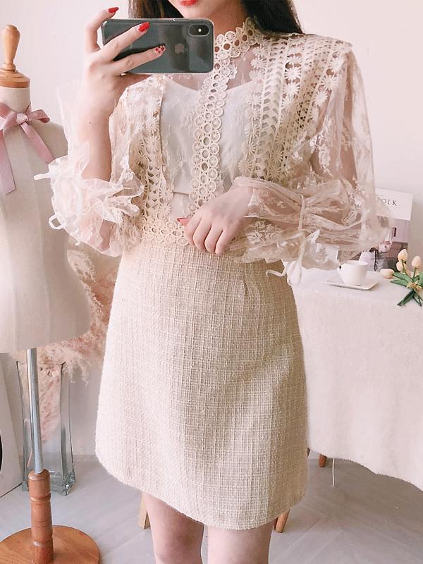Jenny Lace Tweed Dress SET