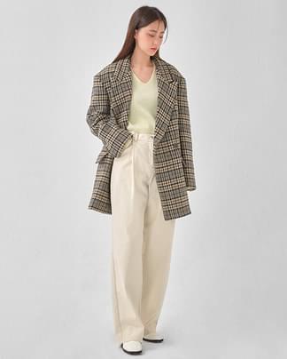 mood check wool coat
