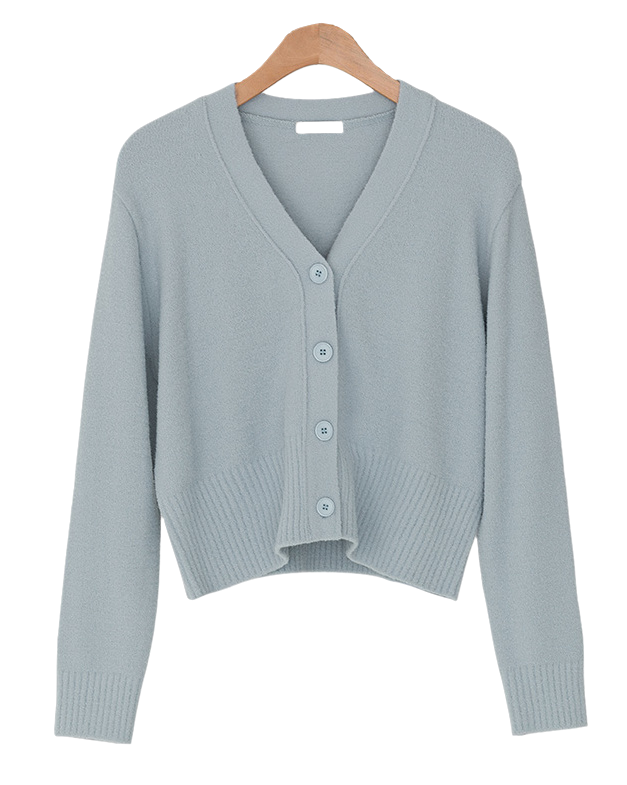 5 color v-neck cardigan