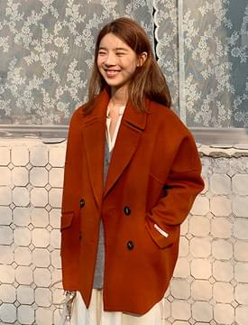 Half stitch handmade coat_M (울 90%) (size : free)