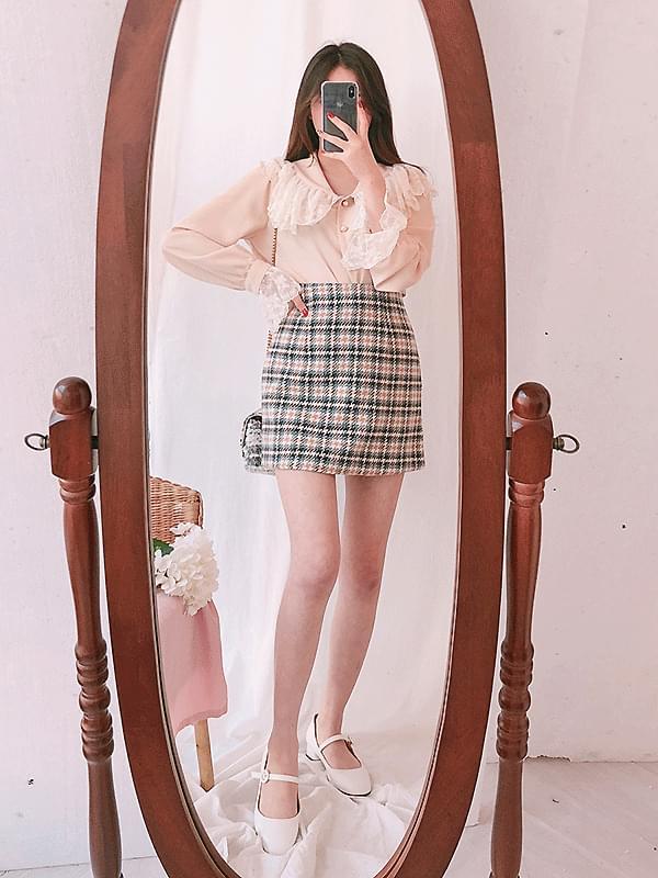 Selenium Hounds check skirt