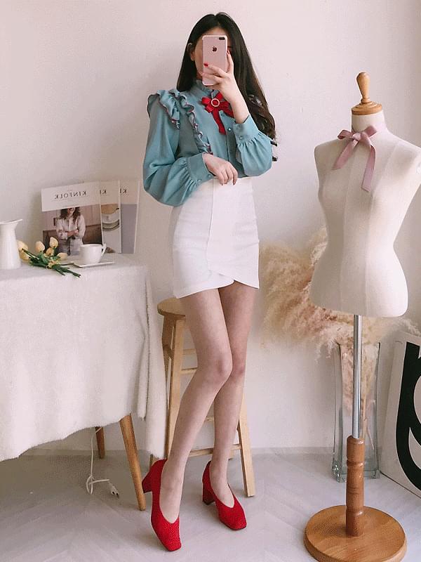 Shai pearl ribbon blouse