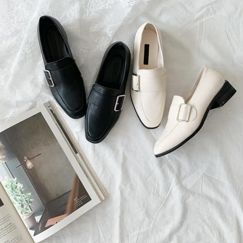 Tram Buckle Loafers, Shoes-Black 250