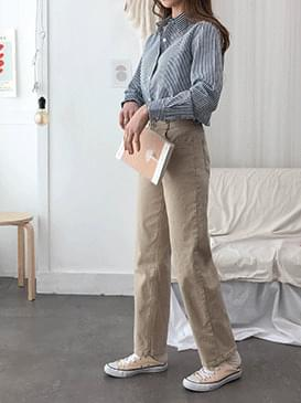 High waisted duffel wide cotton pants