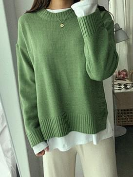 Pastel pudding top knit