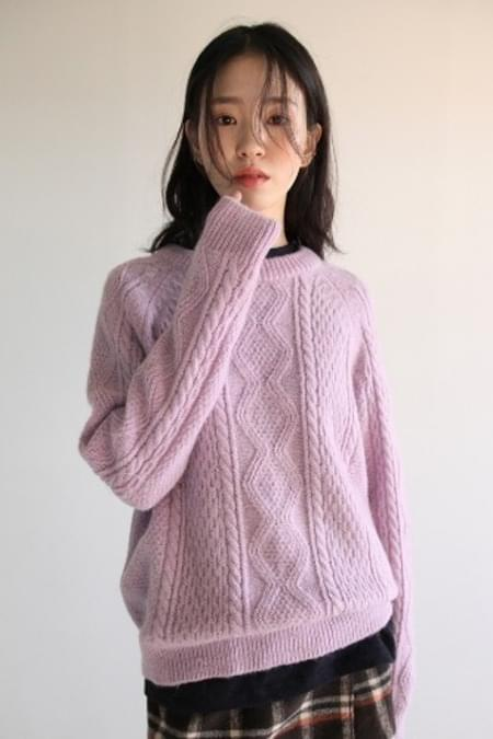 alpaca twist slim knit