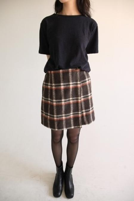 check pattern mini pantskirt (2colors)