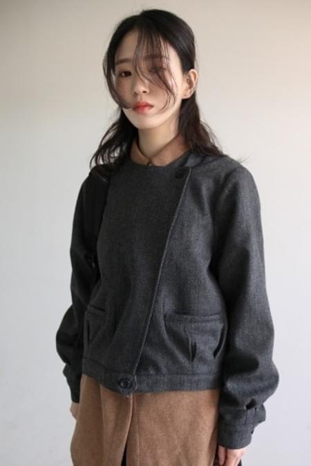 herringbone diagonal jacket