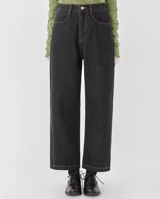 marks black wide straight pants