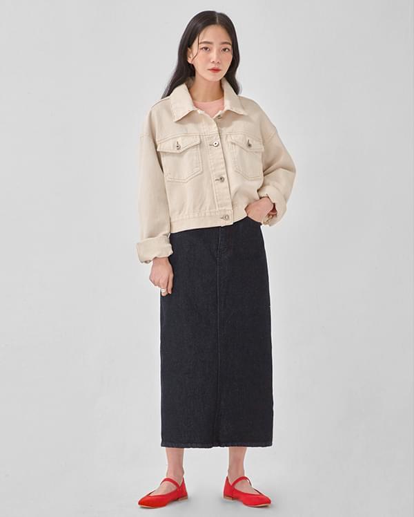 simply denim short jacket