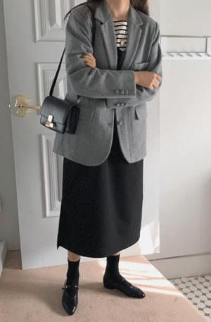 Classic button wool jacket