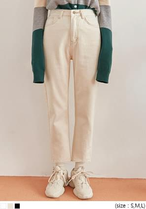 WORST STRAIGHT COTTON PANTS