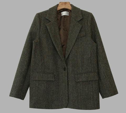Forest Herringbone Wool Jacket