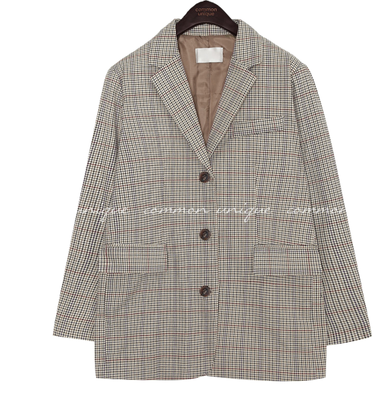 MAGEL HOUND CHECK SINGLE JACKET