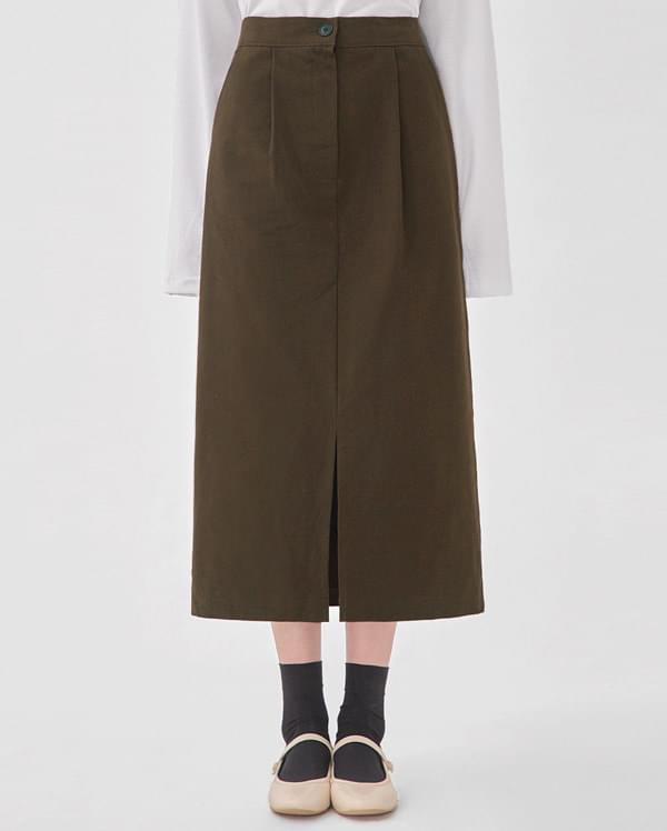 from cotton midi skirt