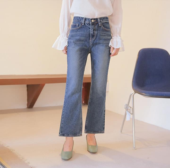 WESS SEMI BOOTS DENIM PANTS
