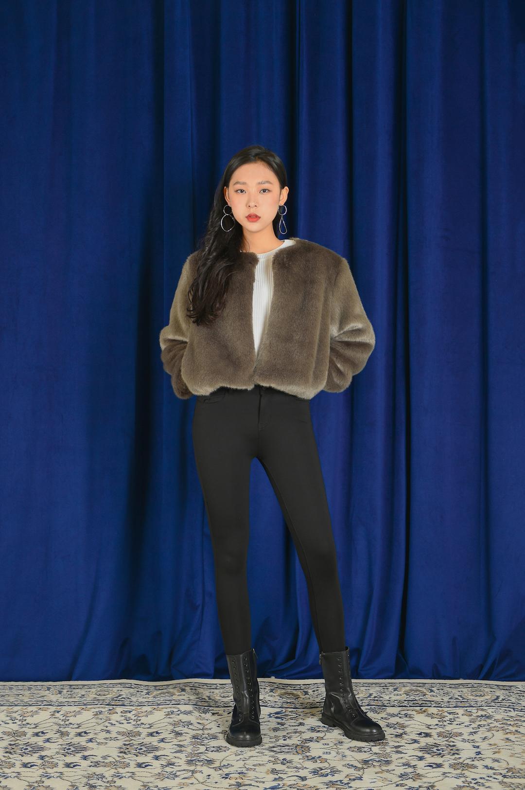 Mink short jacket