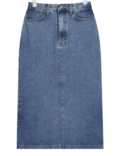 jenner denim long skirt