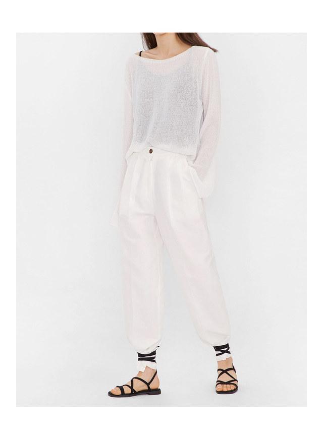 rowe pintuck cotton pants (s, m)