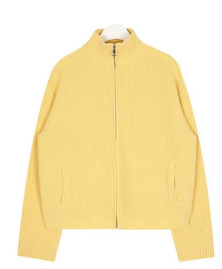 simply wool golgi zip-up