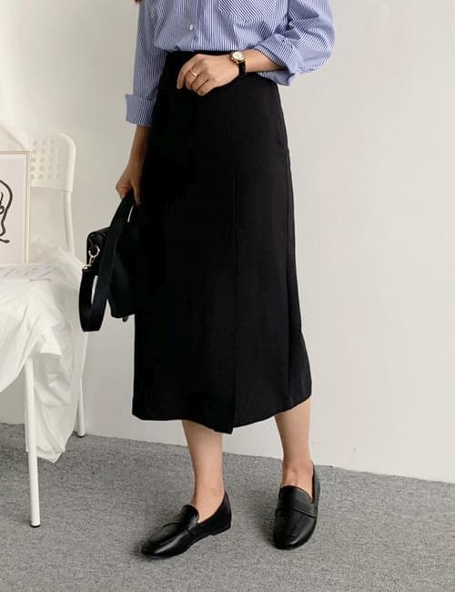 Slender banding H long skirt