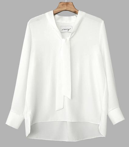 My-littleclassic / Grace-back pleat blouse