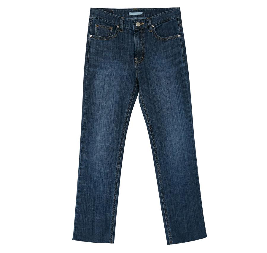 deep blue semi skinny jean