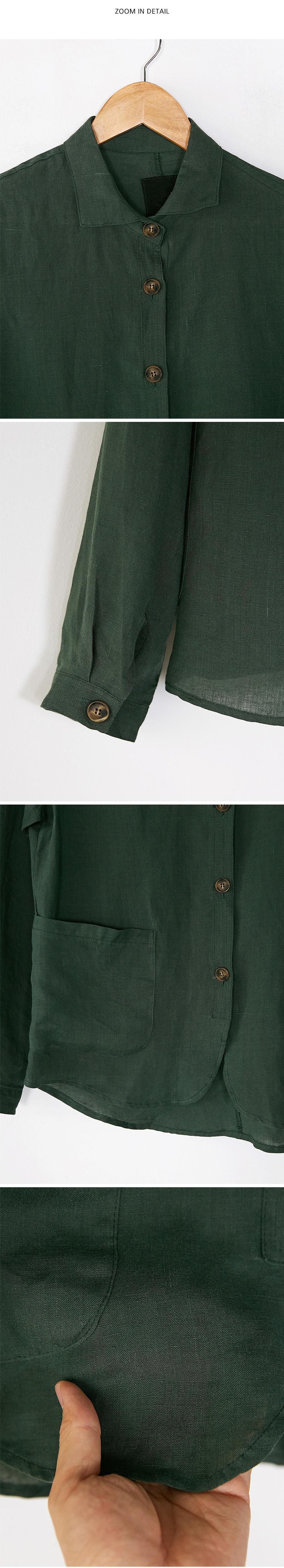 organic linen soft jacket