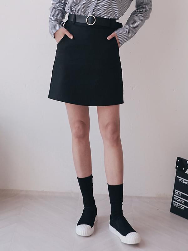 Daily Ring Belt Skirt