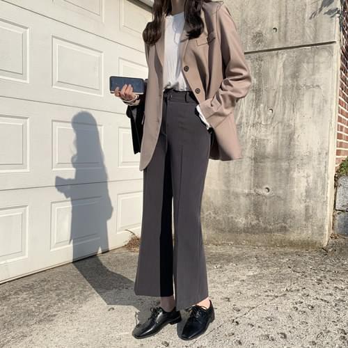 Welcoming Single Jacket-Dark Brown