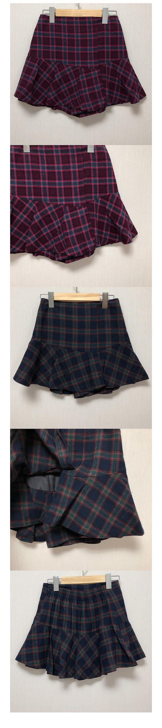 Jello Check Skirt Pants