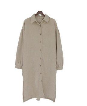 Corduroy purin shirt dress