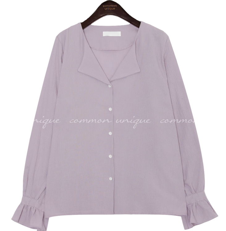SLOP WRINKLE COLLAR BLOUSE