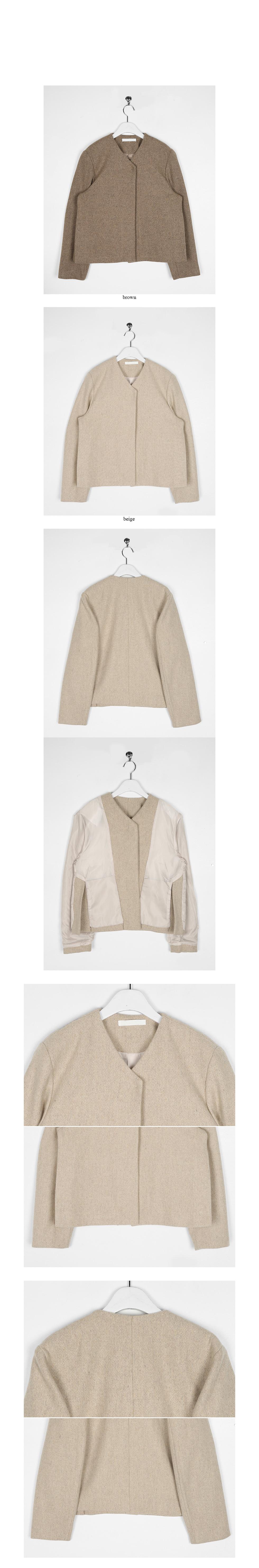 side open non-collar jacket