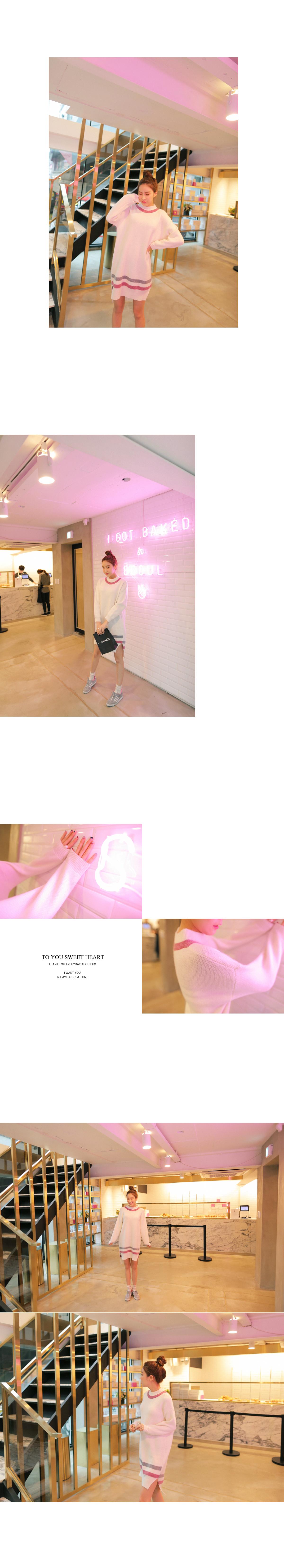 Bling Sine Color Dress Knit Dress