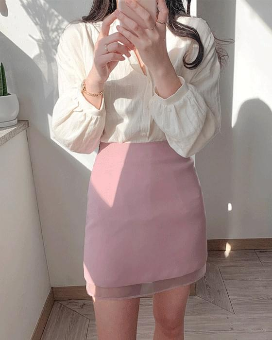 Spring h-line see-through skirt 3color