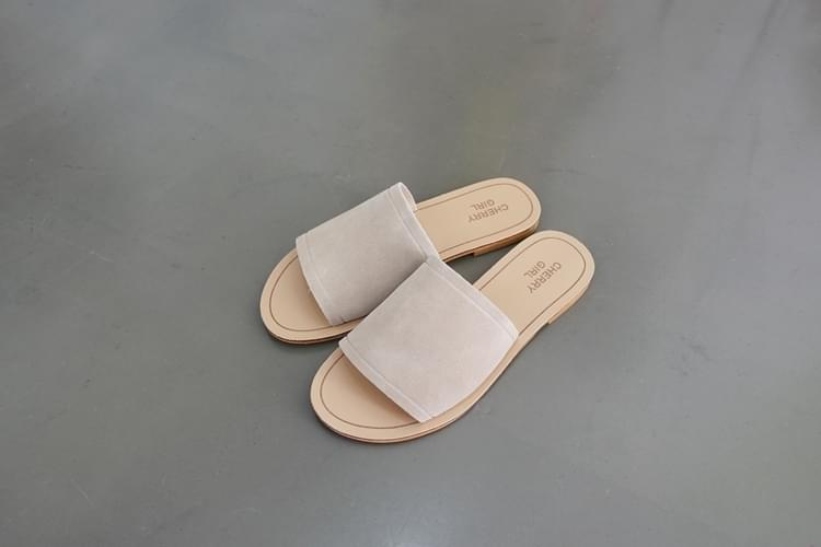 """Natural cowhide leather slippers """"sample sale"""""""